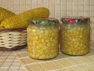 Заготовки из кукурузы в початках на зиму